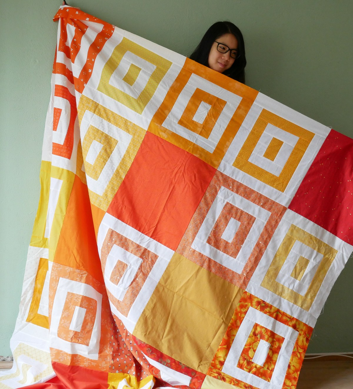 Time to Sew charity autumn quilt top
