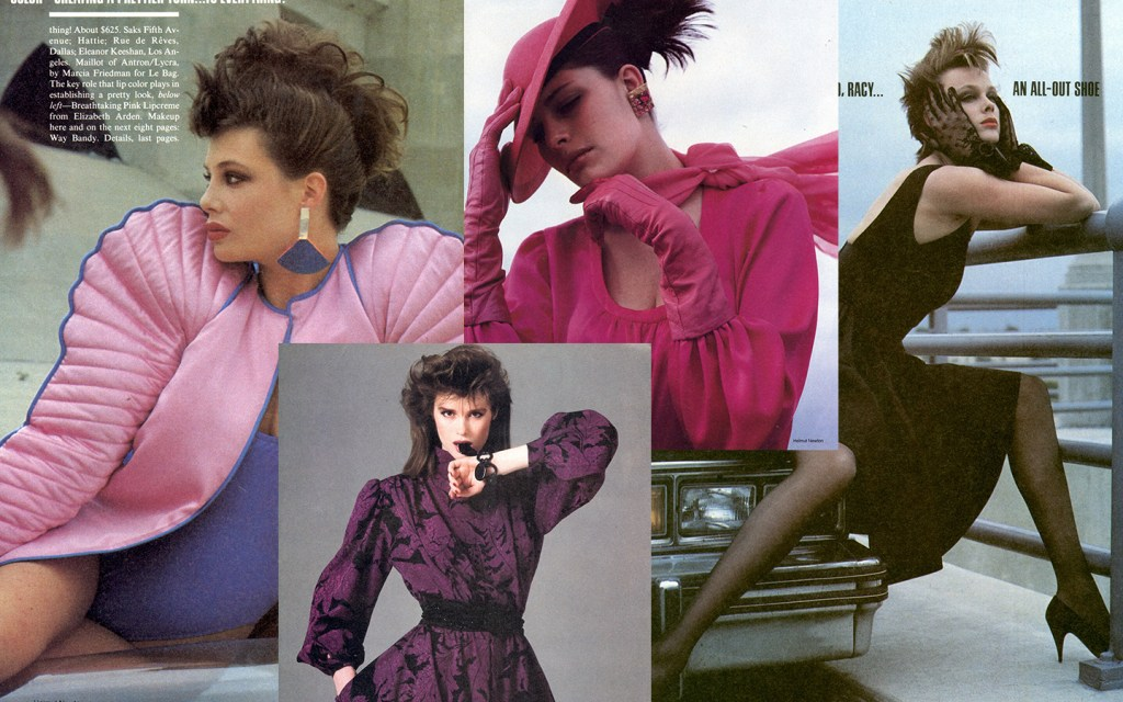 Images from fashion photography from 1983