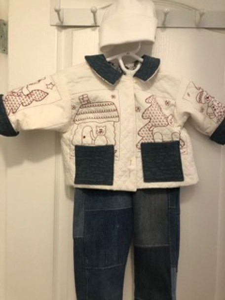 Toddler outfit made with scraps.