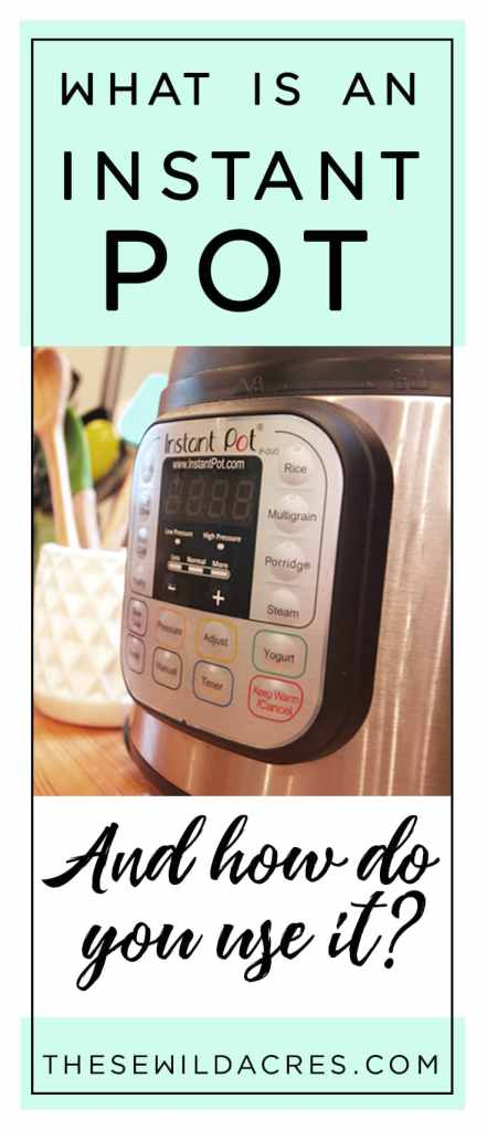 The Instant Pot has been a life-saver when it comes to meal time!