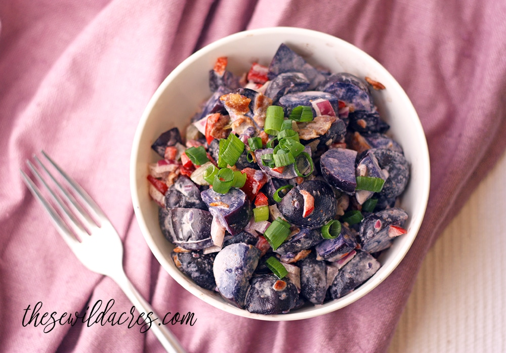 Instant Pot Purple Paleo Potato Salad Recipe