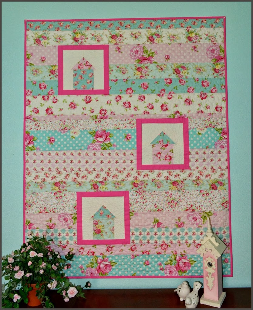Easy Quilt With Three Fabrics : The Sewing Chick A Finished Baby Quilt and a Pattern