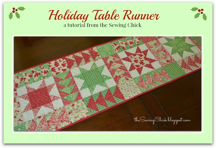 The Sewing Chick Christmas In July Table Runner Tutorial