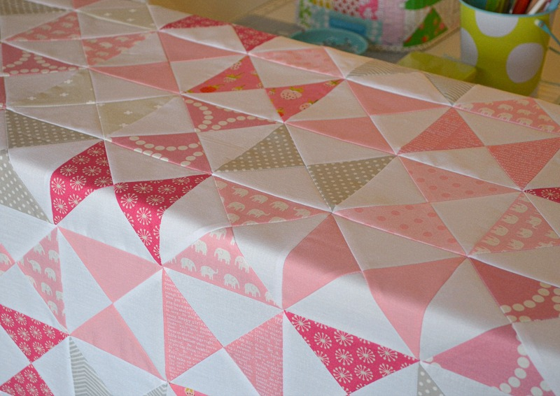 hour glass baby quilt