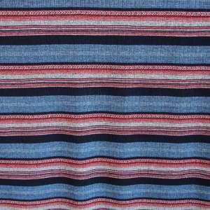 fijne tricot jeansblauw met strepen