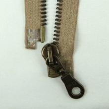 Rits 50 cm antiek deelbaar beige