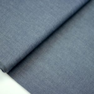 Dark blue- chambray katoen