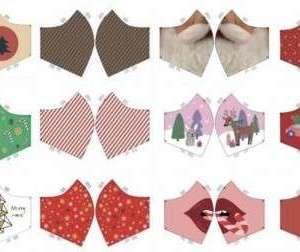 Kerst mondmasker stof -mannen,dames en kids (per paneel 12 patronen)