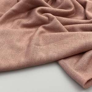 soft pink -brushed viscose tricot  COUPON 82cm