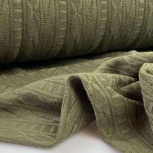 Sliving kaki-jacquard tricot