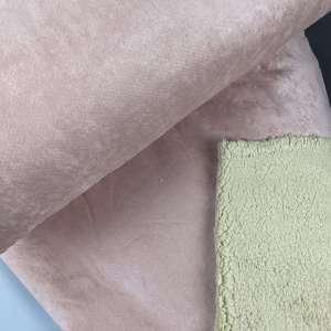 Vintage Pink Soft Teddy lammy- mantelstof