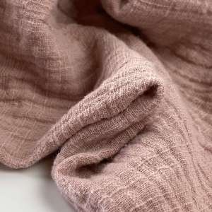 Vintage pink Linnen double gauze- tetra