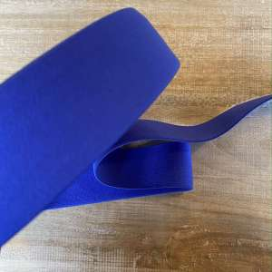 Electric Blue- Zachte elastiek 4cm