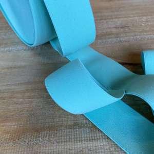 Mint Blauw- Zachte elastiek 4cm