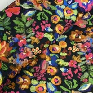 Art pop flowers- ecovero viscose