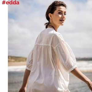 Edda Off white -popeline katoen