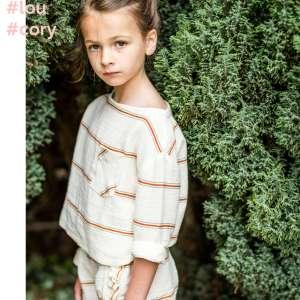 White with red stripes – double gauze tetra