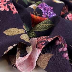 Vintage botanical – katoen tricot