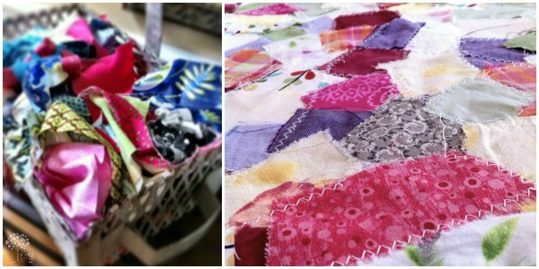 Reclaimed fabric scraps into yardage using Pellon®