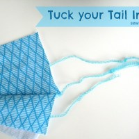 Serger Sewing Tip: Tuck your tail in