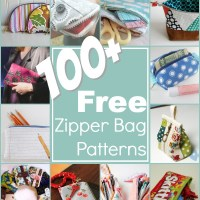 100+ Free Zipper Pouch Patterns