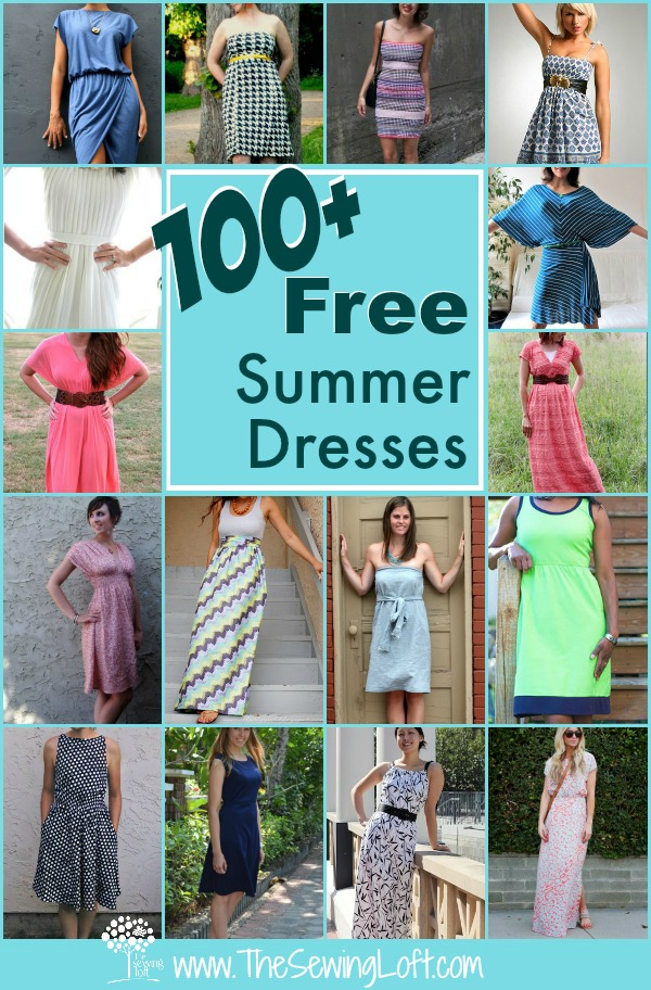 100  Easy Summer Dresses   Round Up   The Sewing Loft 100  Easy Summer Dresses  Most of these patterns are easy to sew for any
