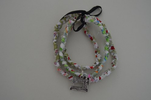 friendship bracelets with sewing machine charm