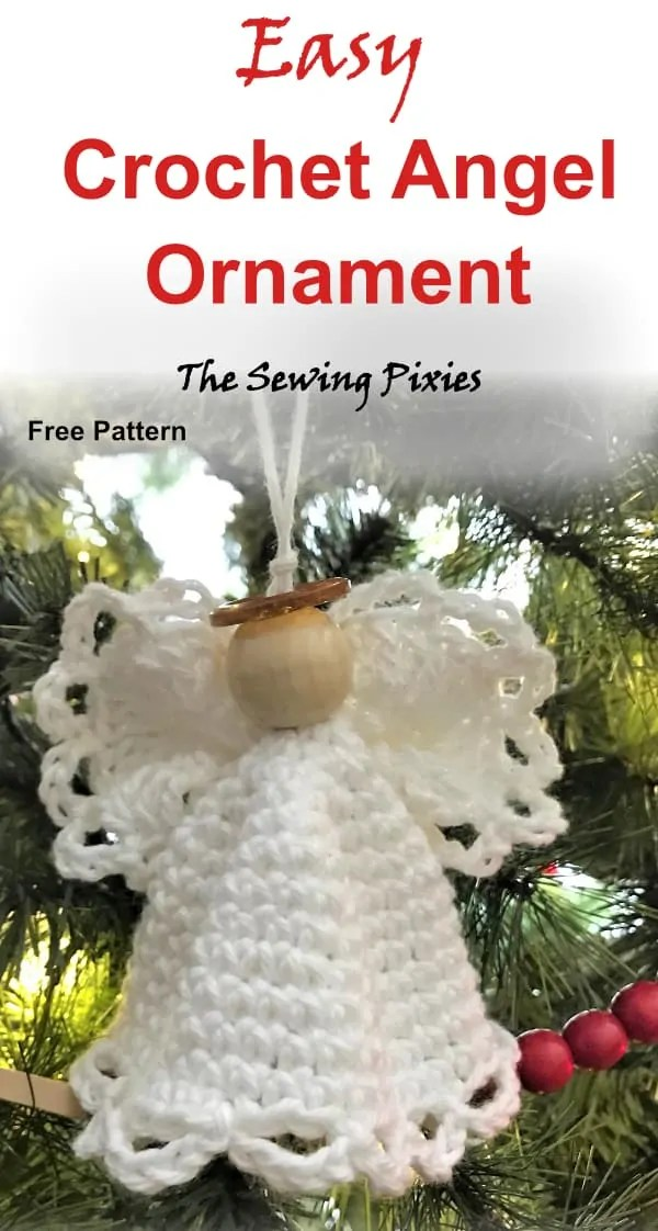 Easy Crochet Angel Ornament Free Pattern The Sewing Pixies