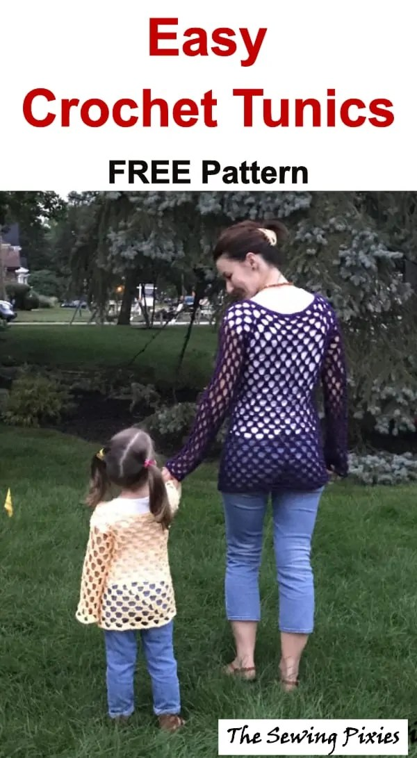 Easy Crochet Tunic Free Pattern The Sewing Pixies