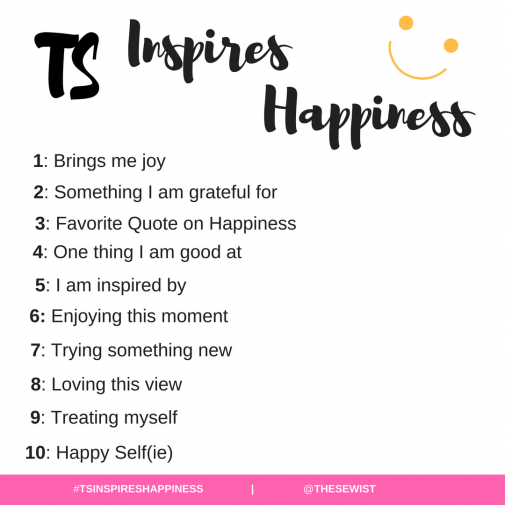 TS INSPIRES HAPPINESS INSTAGRAM CHALLENGE | thesewist.me