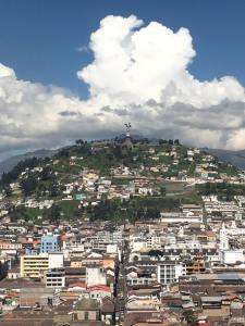 The city of Quito, with a view of the Panecillo, from atop the basilica. Image credit: Isaac Veysey-White