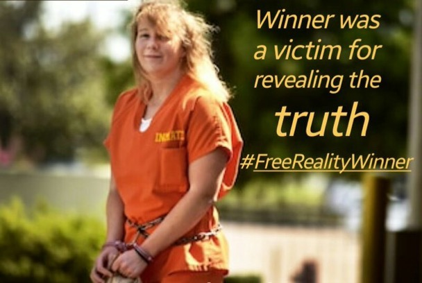 Winner was a victim for revealing the truth #FreeRealityWinner