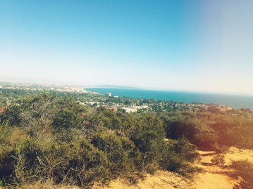 Temescal Canyon Trail: A spectacular view of Santa Monica/Pacific Palisades... It was tough, but the view was worth it.