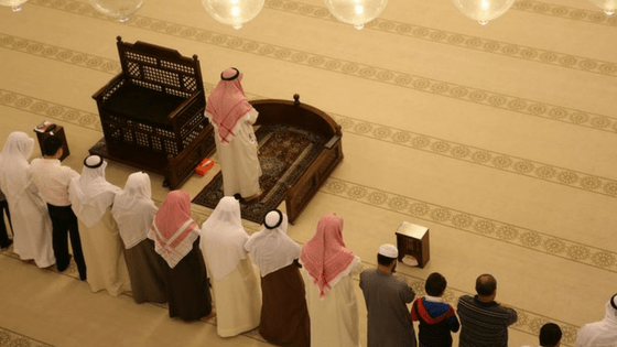 Prayer inside Mosque