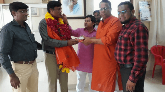 Aejaz Shaikh First Muslim senate elected in Solapur University under graduate category