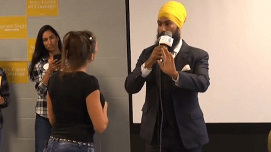 Indo-Canadian Sikh politician shuts down heckler with 'love and courage'