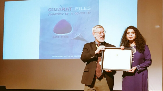 Rana Ayyub wins Global Shining Light Award for 'Gujarat Files Anatomy of a Coverup'