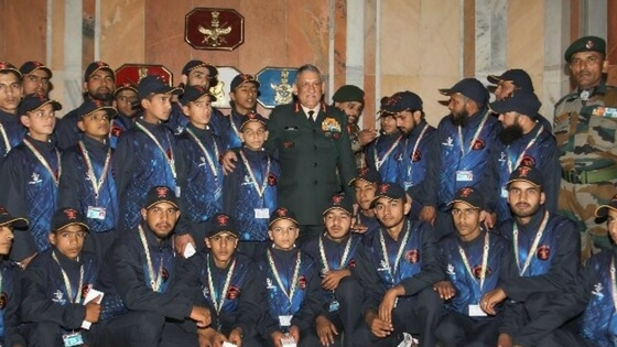 Message of peace beautifully portrayed in holy Quran: Army chief to Kashmir madrasa students