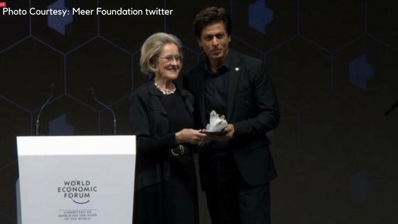 Shah Rukh Khan wins Crystal Award for humanitarian work towards acid attack victims at WEF 2018