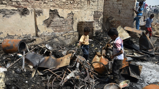 Massive fire left 228 Rohingya refugees homeless in Delhi