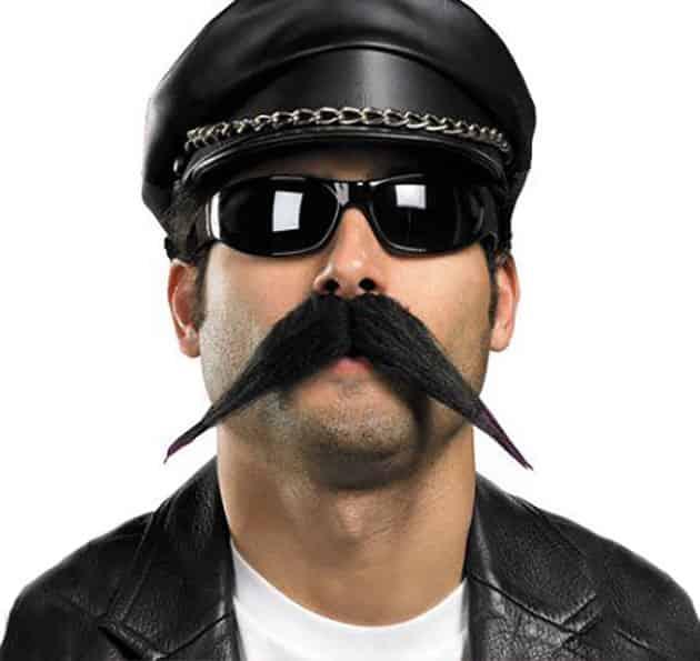 fancy beard style, fancy biker mustache