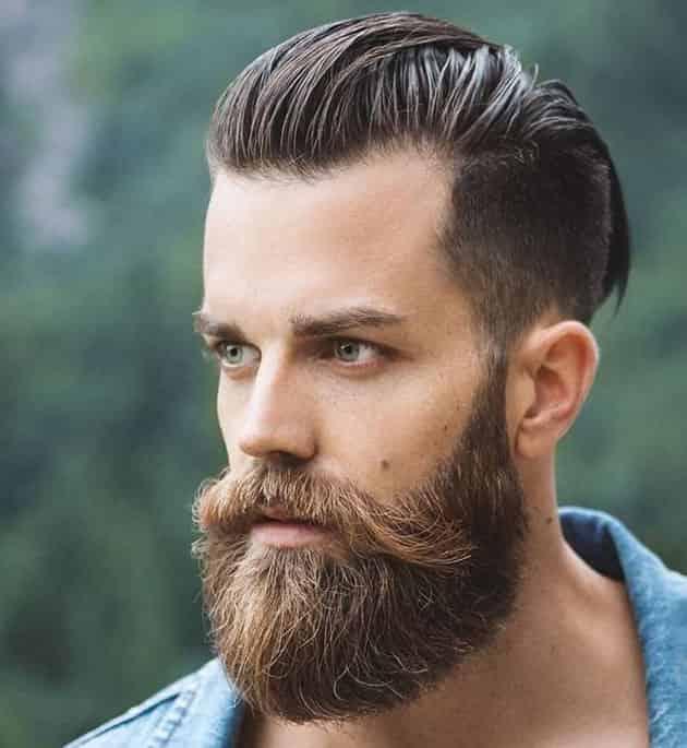 long beard and mustache