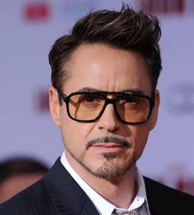 Tony Stark Spiky Hairstyle