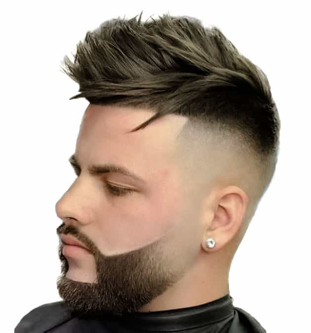 fade and linked beard