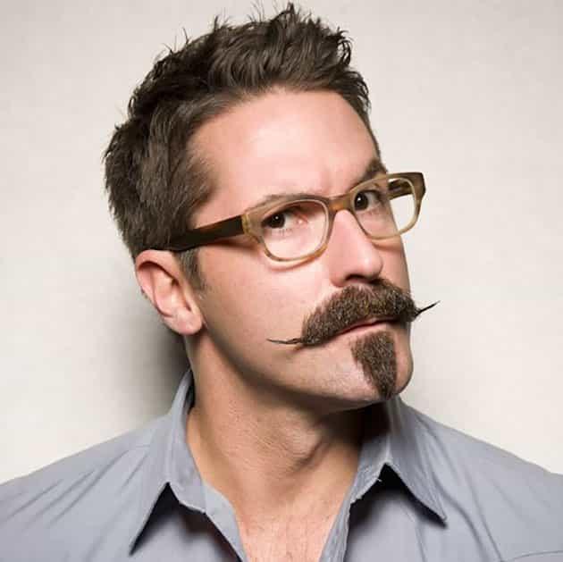 triangle tilt beard with fancy goatee