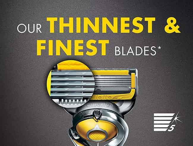 Gillette fusion 5 proshield finest and thinest blades