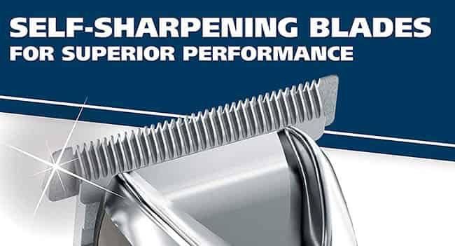 wahl multigrooming trimmer 9864 self-sharpening stainless steel blades
