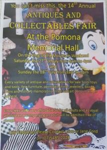 Pomona Antiques & Collectables Fair @ Pomona Memorial Hall