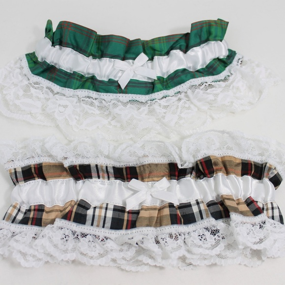 Silk Lace Wedding Garter Tartan (Scotland