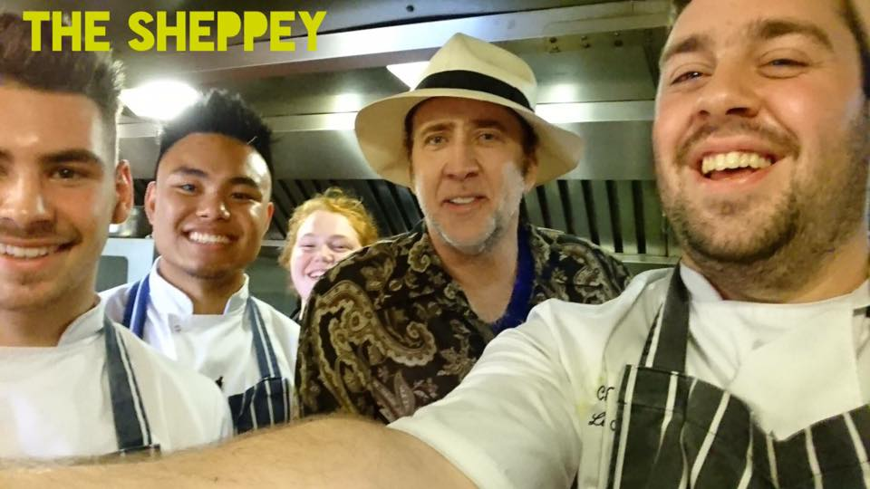 Nicholas cage at the sheppey in godney